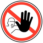 Sticker - card 10 pieces - Prohibitory