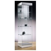 Zenith, square column showcase, aluminium