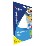Box of 1152 adhesive labels Agipa 114007 white 16 x 22 mm laser and inkjet