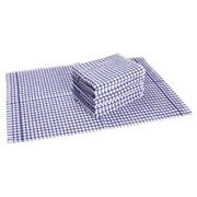 Set 6 towels with tag, blue