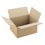 American box in brown undulated kraft H 12 x W 19 x D 23 cm