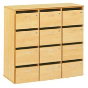 Mail sorter cabinet 12 compartments beech