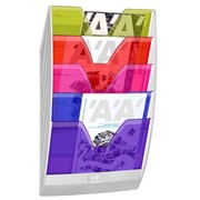 Mural stand with 5 compartments