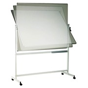 Mobile rotating double-sided whiteboard W 150 x H 120 cm