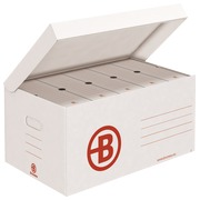 Archive boxes in white kraft JMB