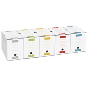 Archive box, back 15 cm, assorted colours