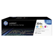 Pack of 3 toners HP 304A colours