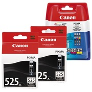 Canon big pack 2x PGI525 + 1 multipack color high capacity for inkjet printer