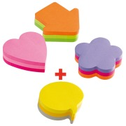 Pack 3 + 1 Post-It kubusblokjes 'Fantasie