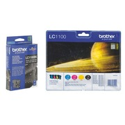 Big Pack of 2 black + 3 colour cartridges Brother LC1100