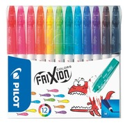 Frixion Colors viltstift geassorteerde kleuren medium kegelpunt - Set van 12