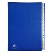 Multipart file Ordonator 26 alphabetical tabs from A to Z - A4 - Blue (621229E)
