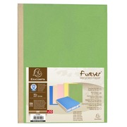 Pack of 10 cloth bound folders Forever® 320gsm - 24x32cm - Assorted colours