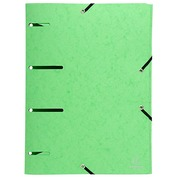 Folder with elastics und 3 folds perforated Punchy glossy cardboard A4 aniseed