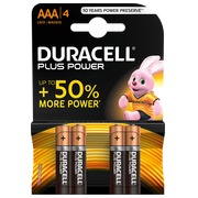 Duracell Plus Power alkaline batteries AAA