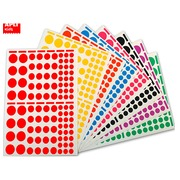 Sleeve 18 sheets assortment round labels Agipa 119270 - box of 1872