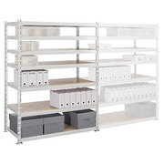 Archive rack Archiv' Eco 2 - basis element H 192.5 x W 150 x D 70 cm galvanized steel plate double access
