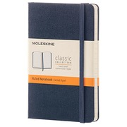 Notebook Moleskine strong 9 x 14 cm ivory lined 192 pages - dark blue
