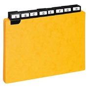 Guide cards 148 x 210 mm Exacompta yellow - set of 24