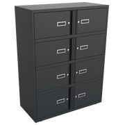 Monoblock locker - cabinet with 8 compartments H 130 cm anthracite