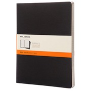 Set of 3 notebooks Moleskine 22 x 28 cm ivory plain 120 pages