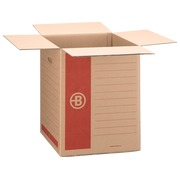 Moving box Bruneau brown kraft double undulation H 58 x W 46 x D 46 cm