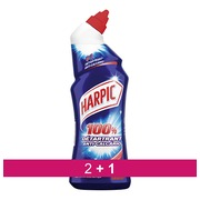 Pack 2 + 1 Gel WC Harpic fris - fles van 750 ml