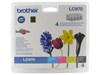 Pack 4 cartridges Brother LC970 black, cyan, magenta and yellow
