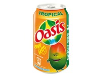 Pack of 24 cans Oasis Tropical cans 33 cl