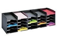 Storage box 112cm, 25 slots - black